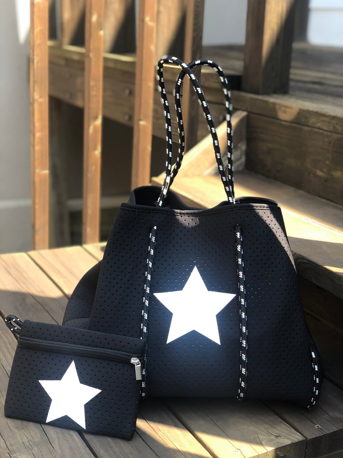 Neoprene Tote Bag - Black Star