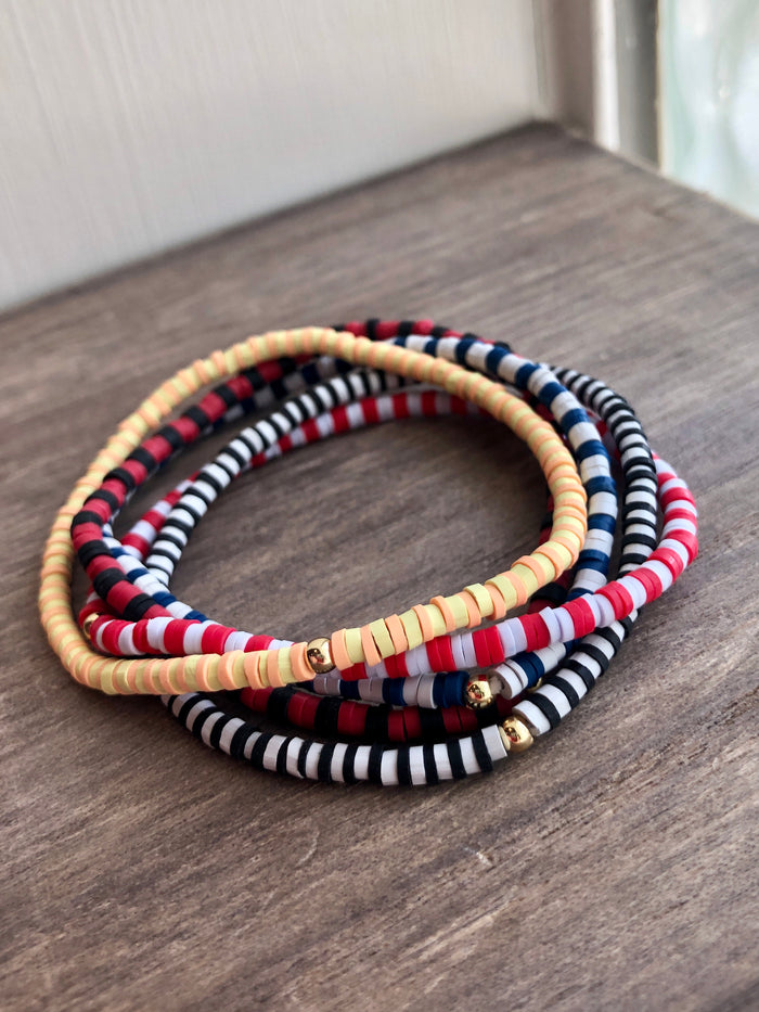 Colorful Rubber Stretch Bracelet Set