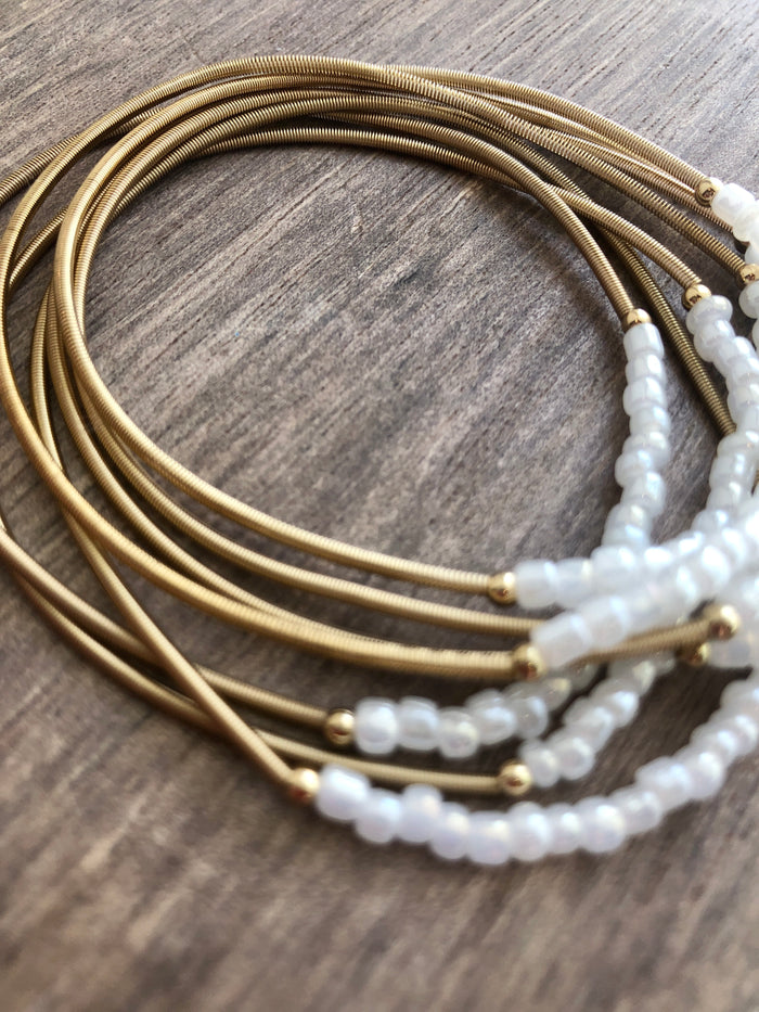Guitar String Stretch Bracelet Set
