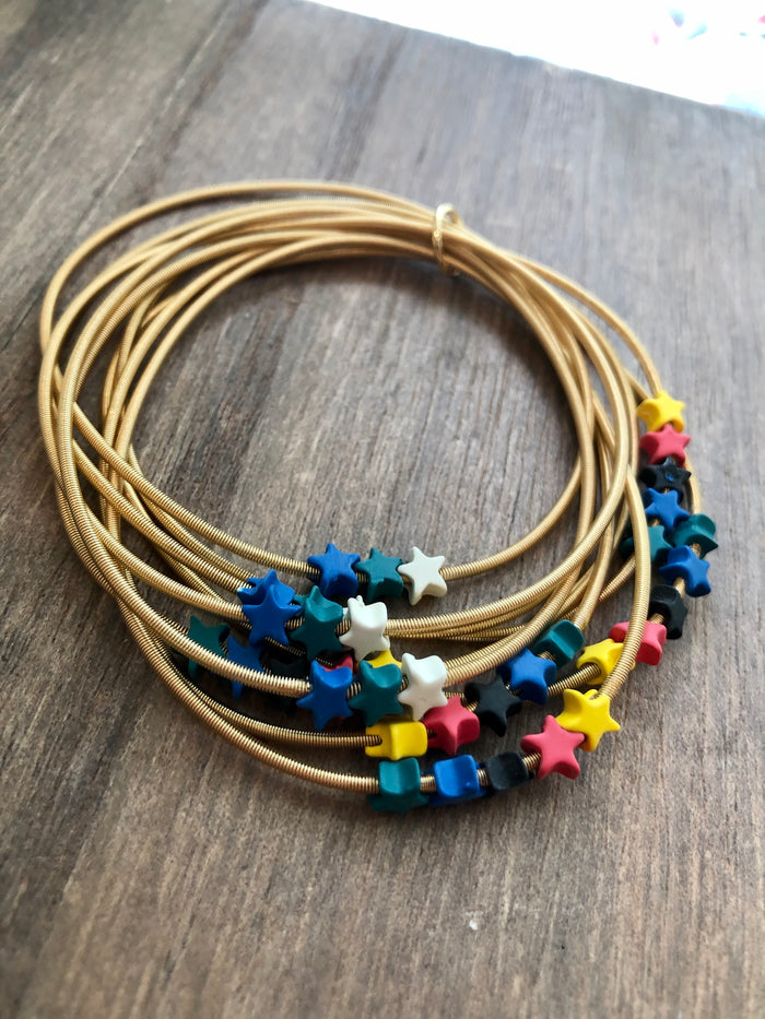 Stretch Wire Star Bracelet Set