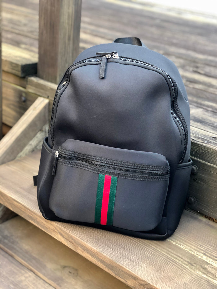 Neoprene Backpack - Black Stripe