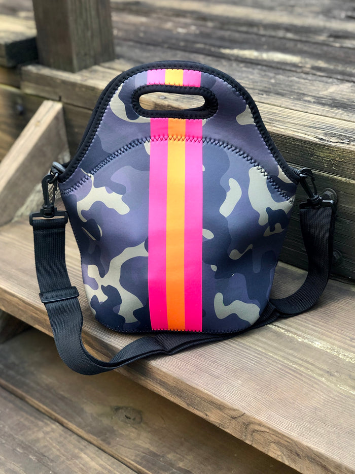 Neoprene Camo Lunch Tote