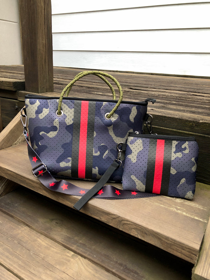 Mini Neoprene Purse Set - Camo Stripe