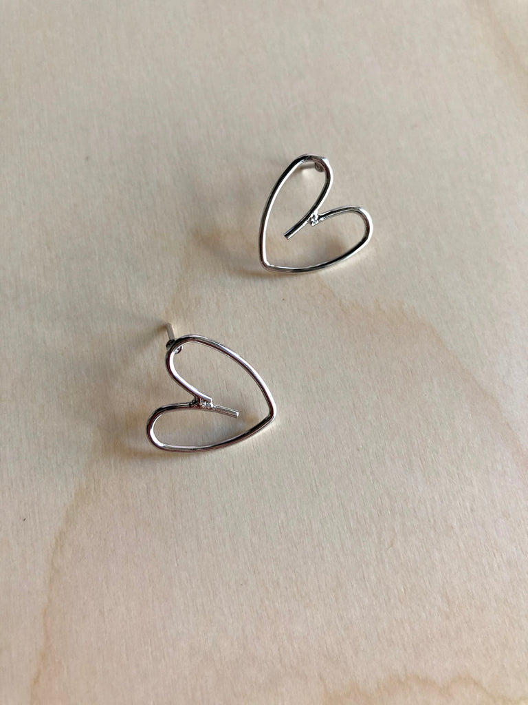Heart Doodle Stud Earrings