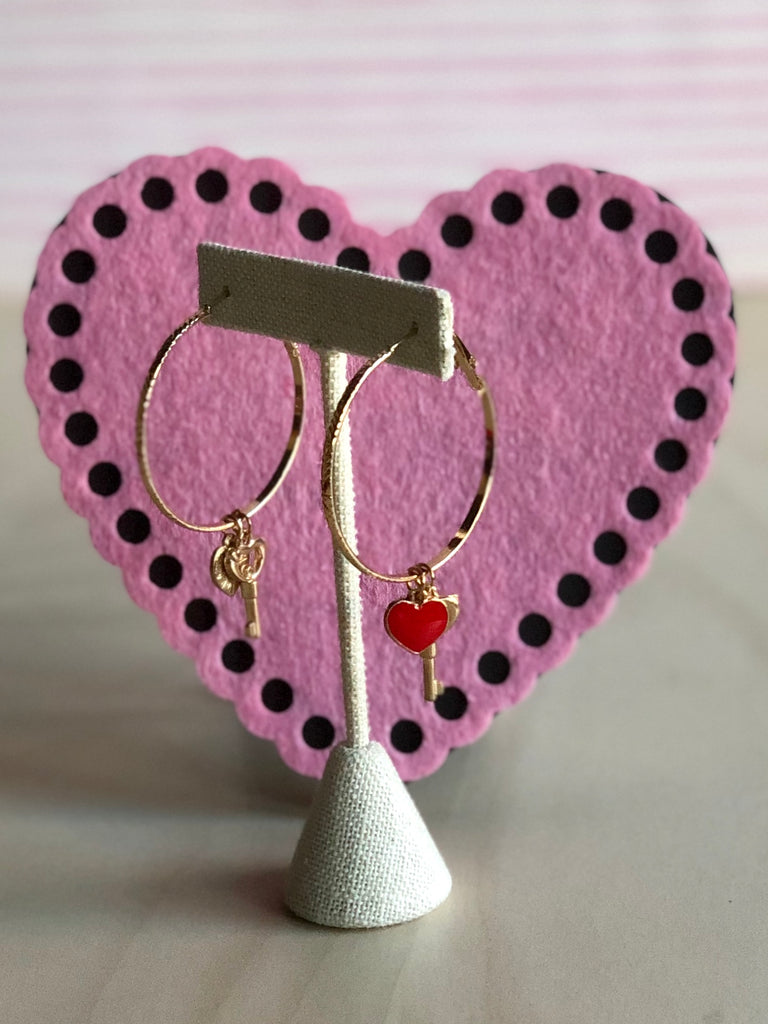 Key To My Heart Hoop Earrings