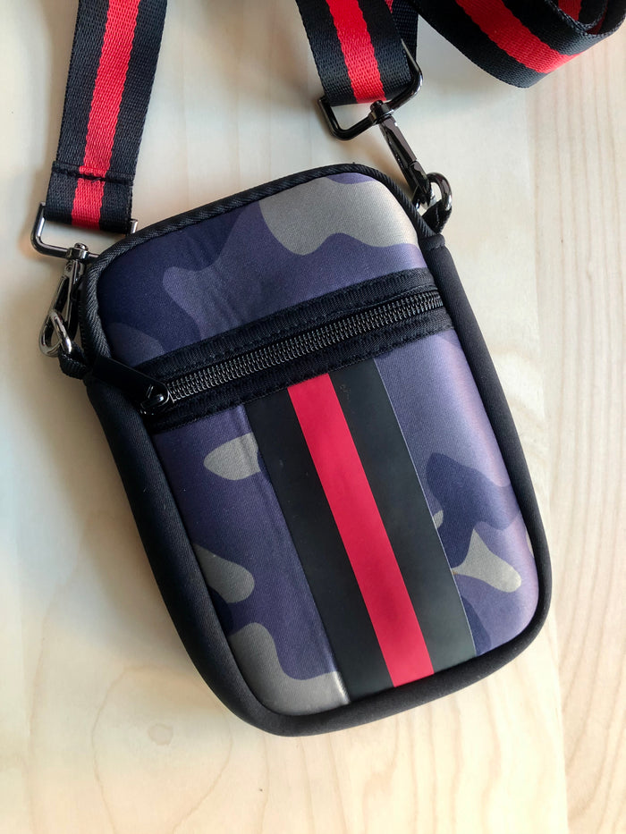 Neoprene Crossbody - Camo Stripe
