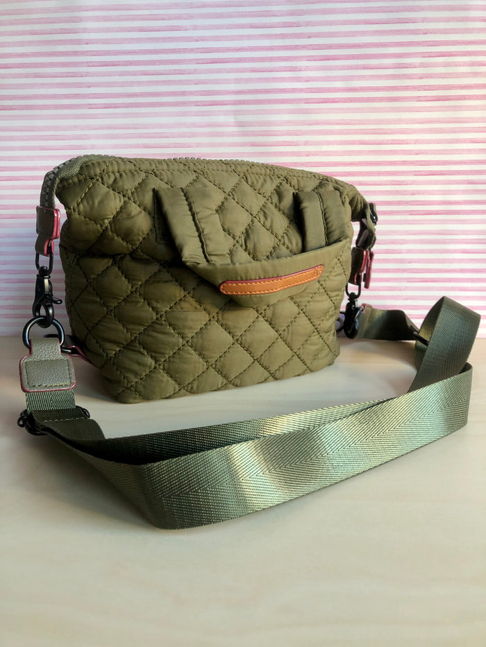 Mini Quilted Bag - Olive