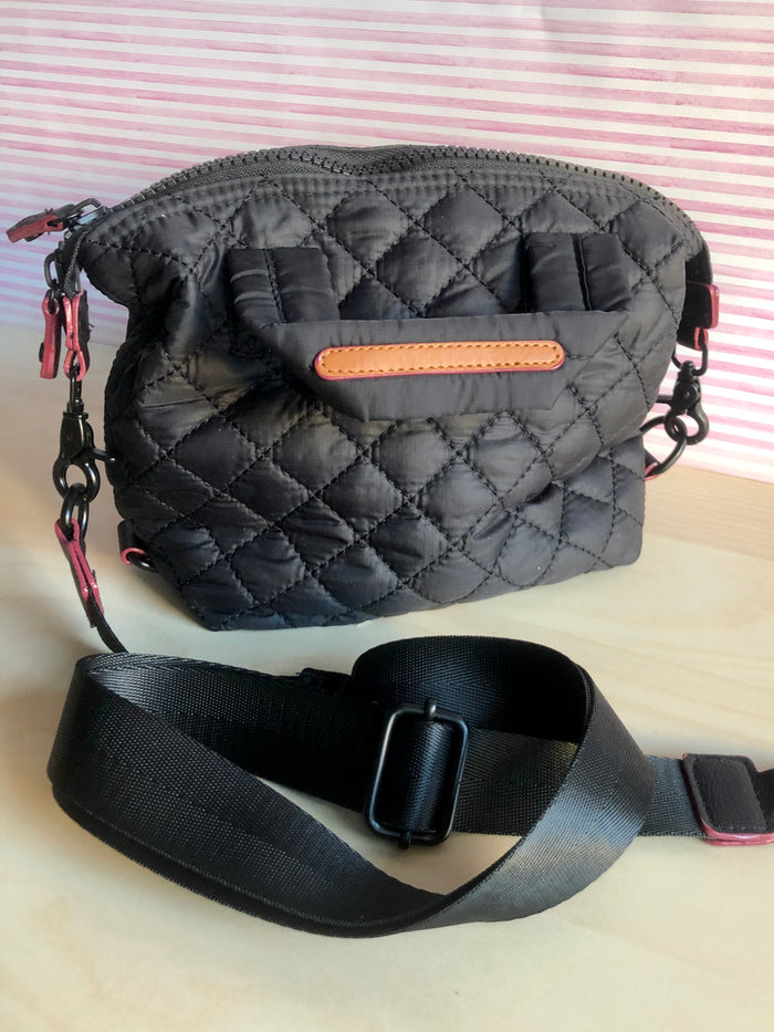 Mini Quilted Bag - Black