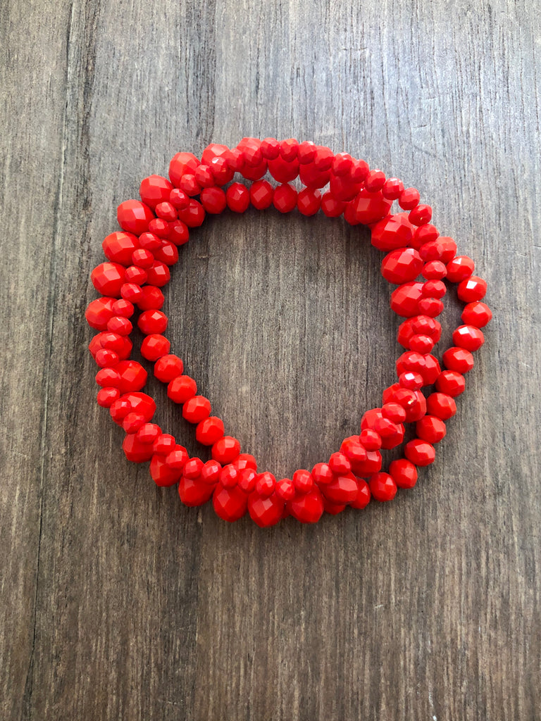 Bright Faceted Bead Bracelet Set