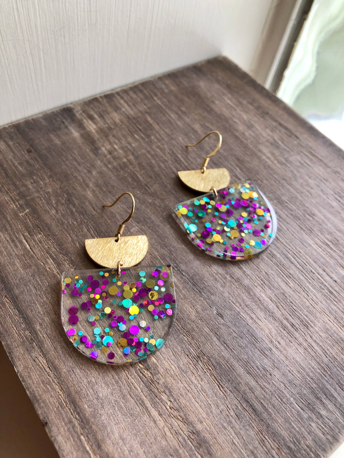 Confetti Acrylic Earrings