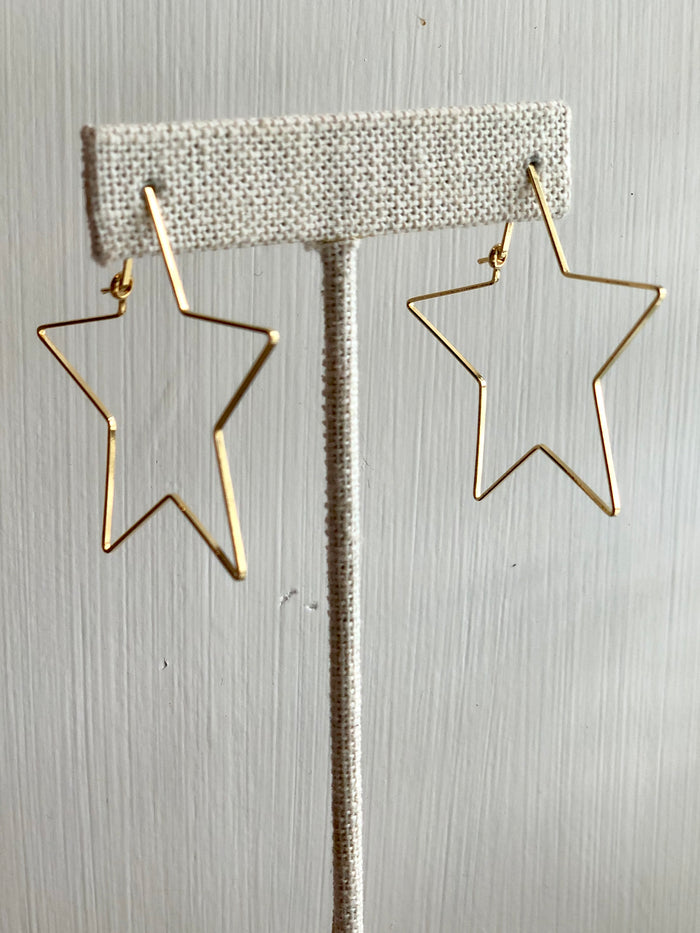 Small Wire Star Earrings