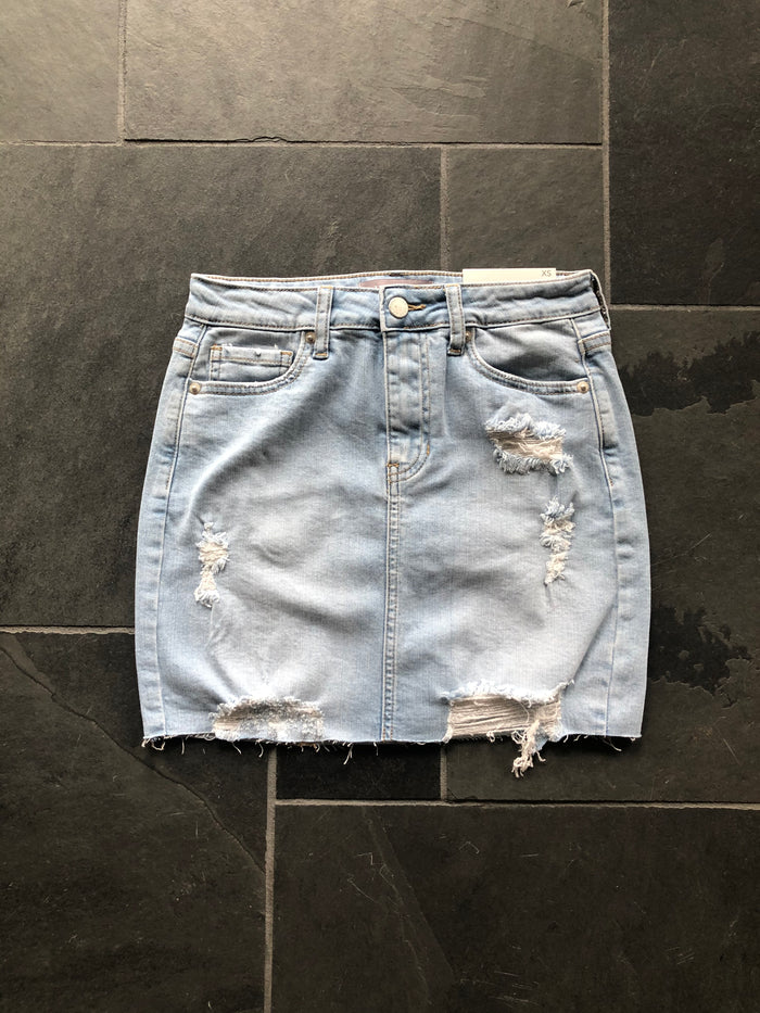 Light Wash Distressed Mini - Just USA Denim - SALE