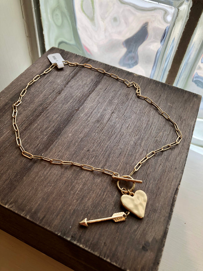 Heart & Arrow Toggle Necklace