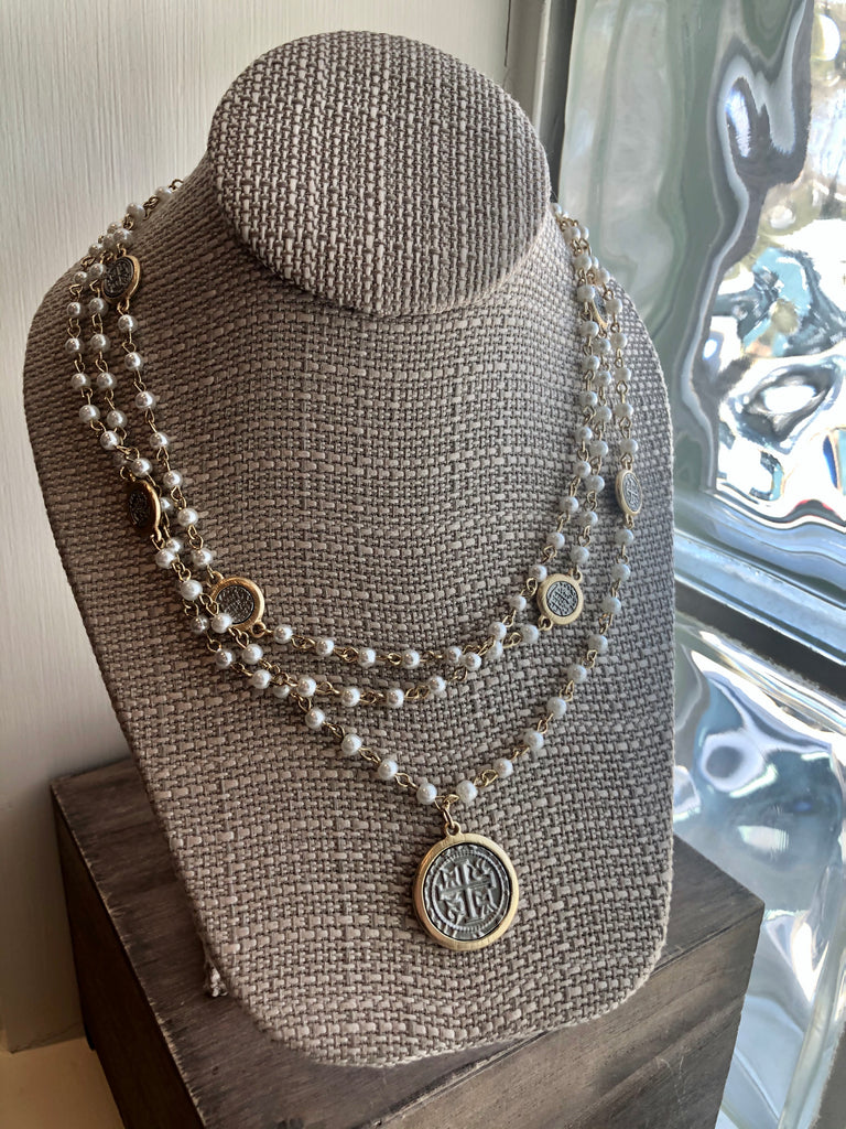 Pearl & Coin Necklace