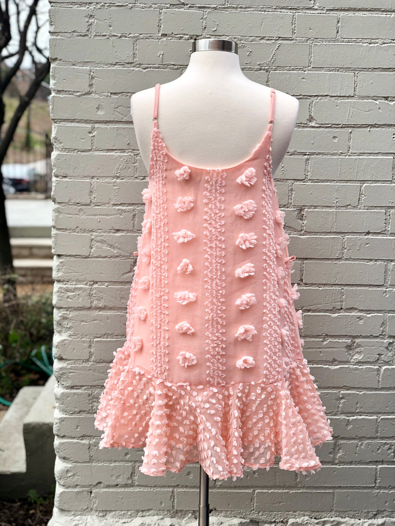 Peach Puff Print Dress - SALE