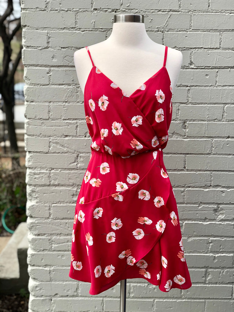 Berry Floral Dress