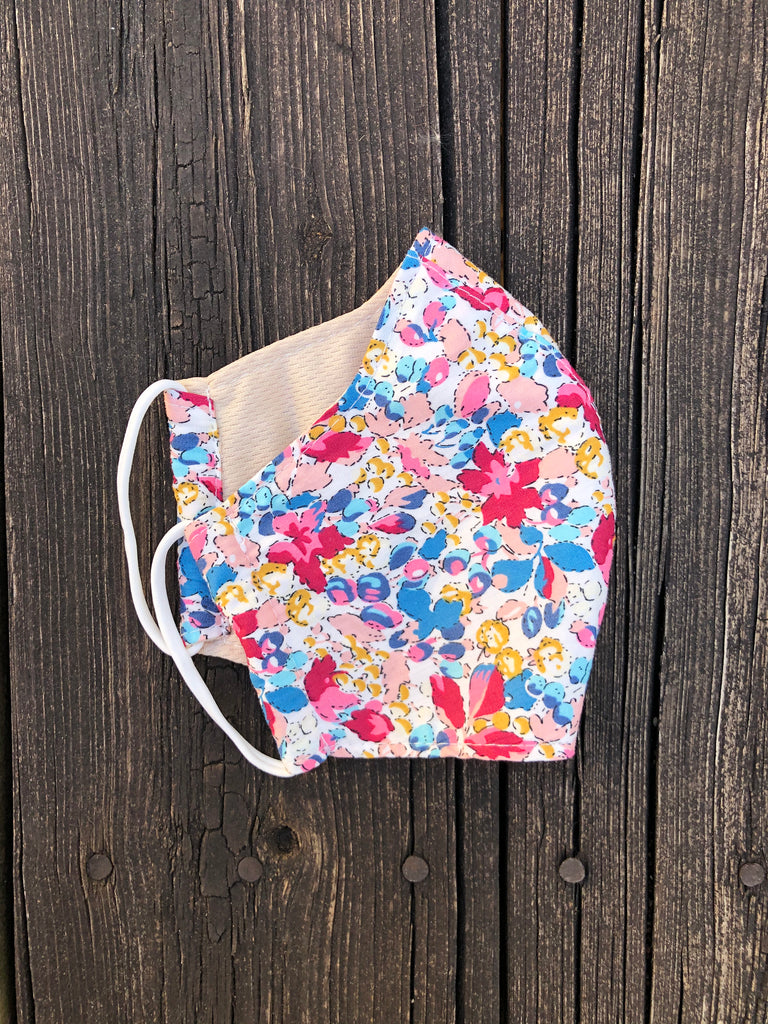 Cotton Mask with Elastic - Vintage Floral