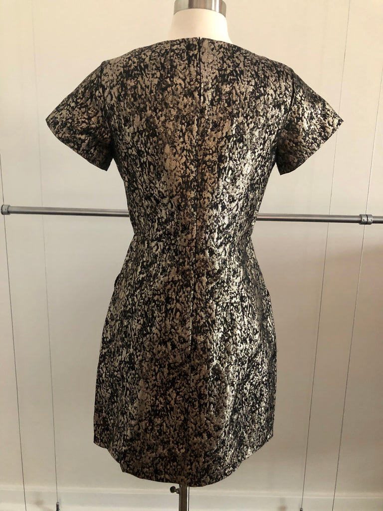 Metallic Lace Print Dress - FINAL CLEARANCE