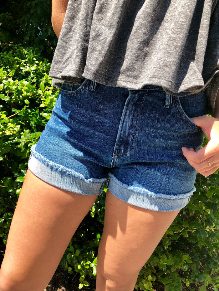 Cuffed Jean Shorts - FINAL CLEARANCE