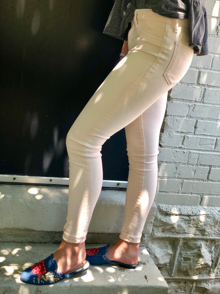 Lily Peach Skinny Jeans - FINAL CLEARANCE