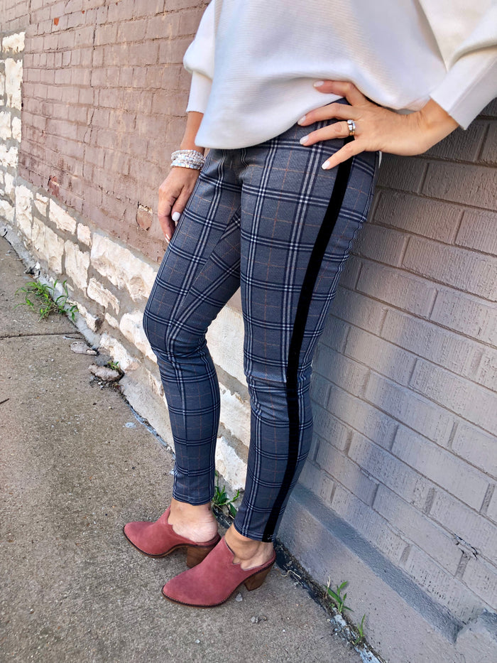 Plaid Jersey Pull-On Pant - FINAL CLEARANCE