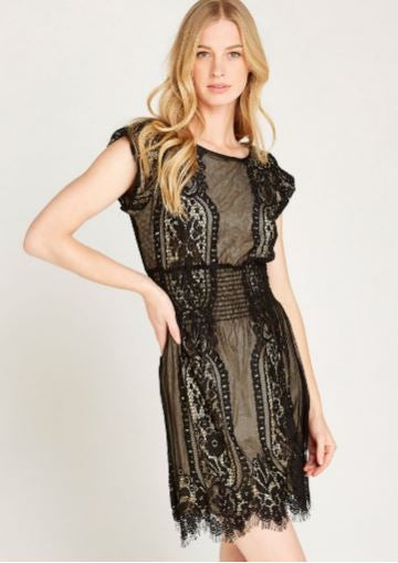 Scalloped Lace Dress - FINAL CLEARANCE