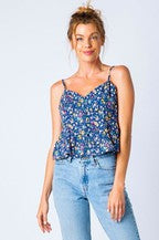 Floral Strappy Tank - SALE