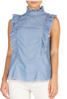 Sleeveless Denim Prairie Top