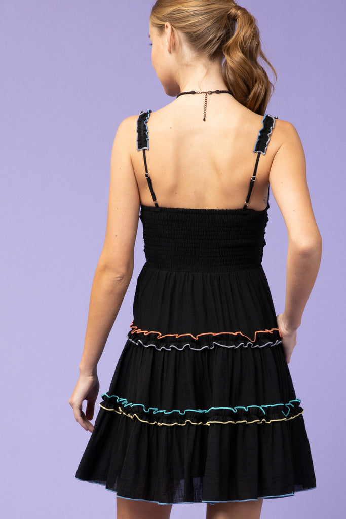 Contrast Stitching Dress - SALE