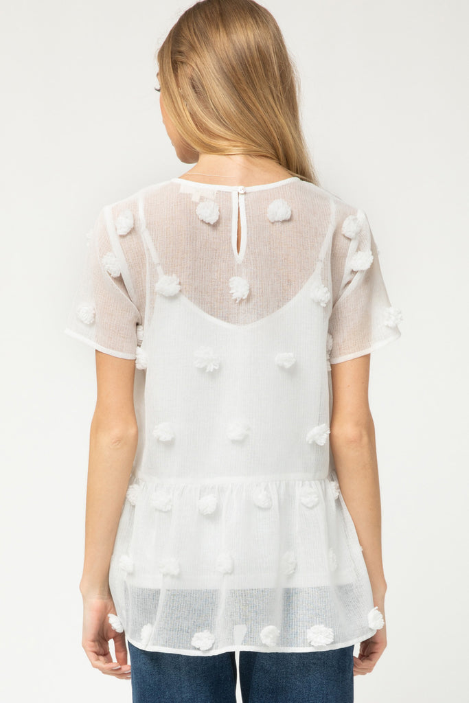 Puff Dot Babydoll Top - SALE