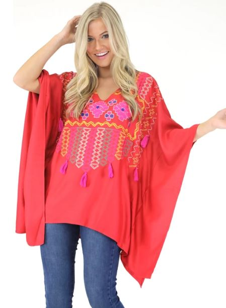 Gypsy Embroidered Tunic - SALE