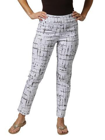 Krazy Larry Pants - Taupe Lines - FINAL CLEARANCE