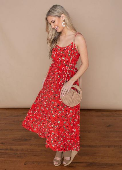 Strappy Floral Midi Dress - SALE