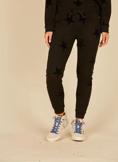 Flocked Star Joggers