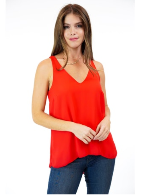 Veronica M Double-Layer V-Neck Tank
