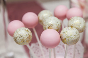 Buy Pink And Glitter Cake Pops Online