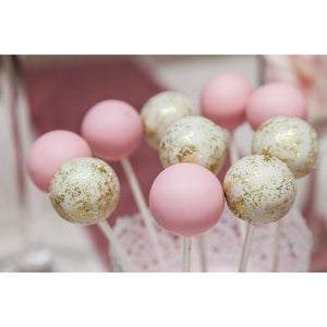 Pink and Glitter Cake Pops - Cake Pops Parties