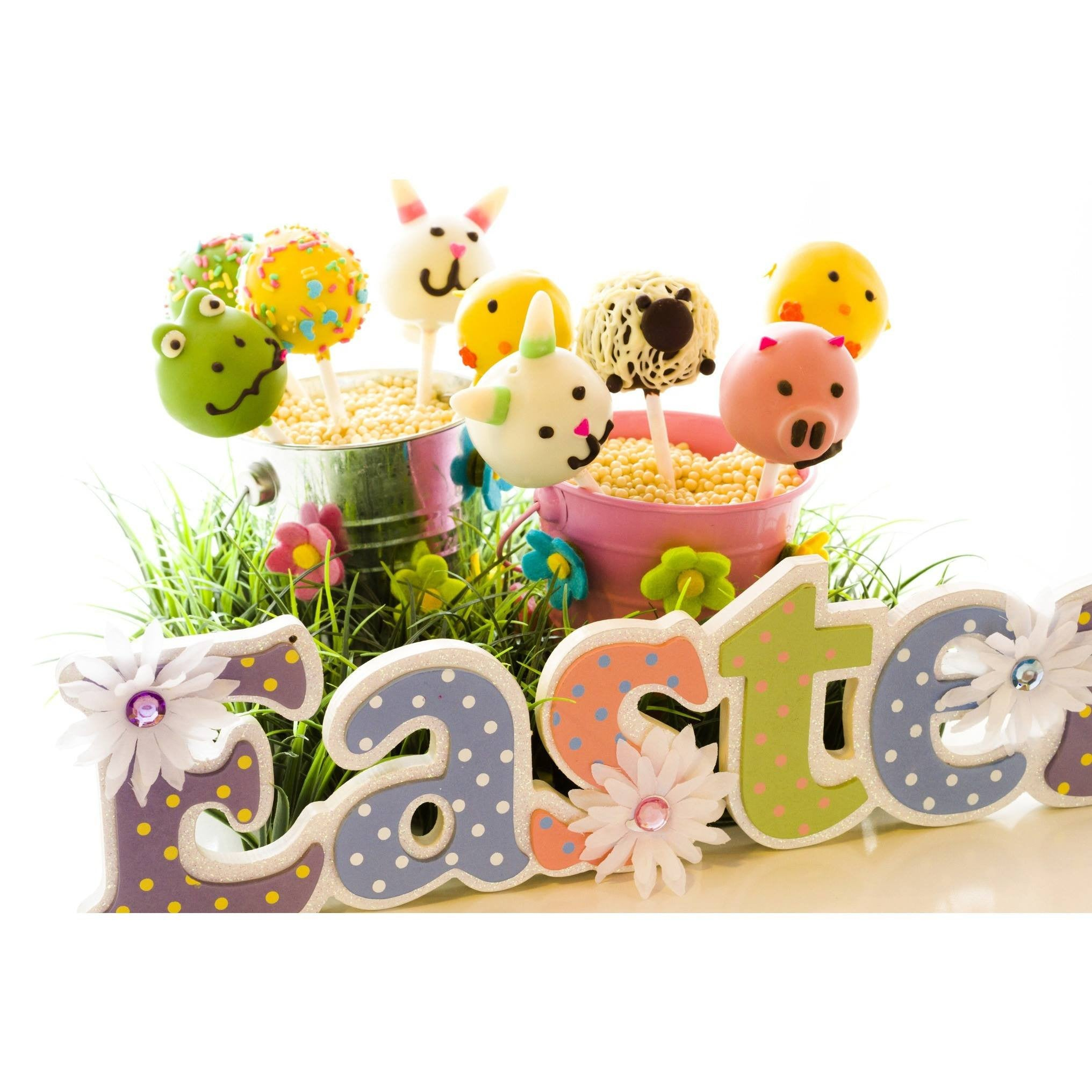 Buy Easter bunnies, sheep, chicks, frog, pig and eggs cake pops - Cake Pops Parties