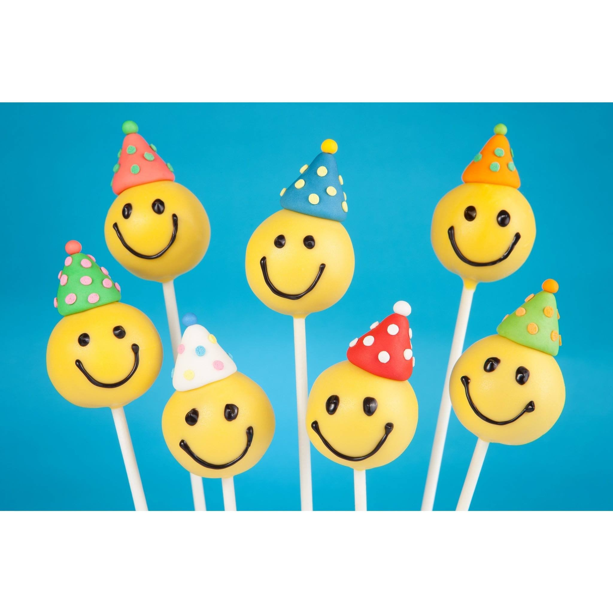Buy Emoji Cake Pops With Party Hats - Cake Pops Parties