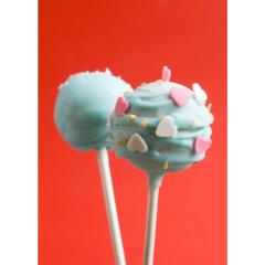 Valentine's Cake Pops With Hearts and Walnut Pieces - Cake Pops Parties
