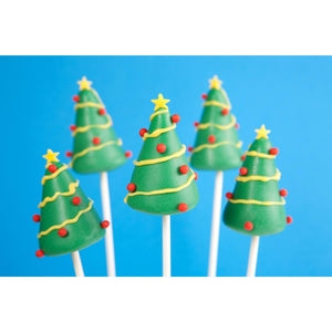 Buy Christmas Tree Cake Pops UK - Cake Pops Parties