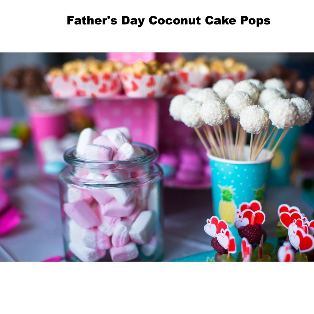 Father's Day Coconut Cake Pops - Cake Pops Parties