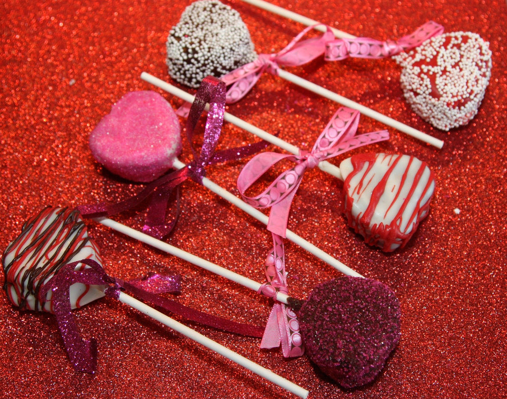 Heart Shaped Valentine's Cake Pops