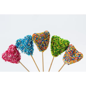 Buy Valentine's Day Heart Shaped Cake Pops with Sprinkles - Cake Pops Parties
