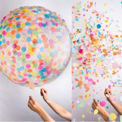 Confetti Balloons for Wedding, Proposal, Birthday Party Decorations