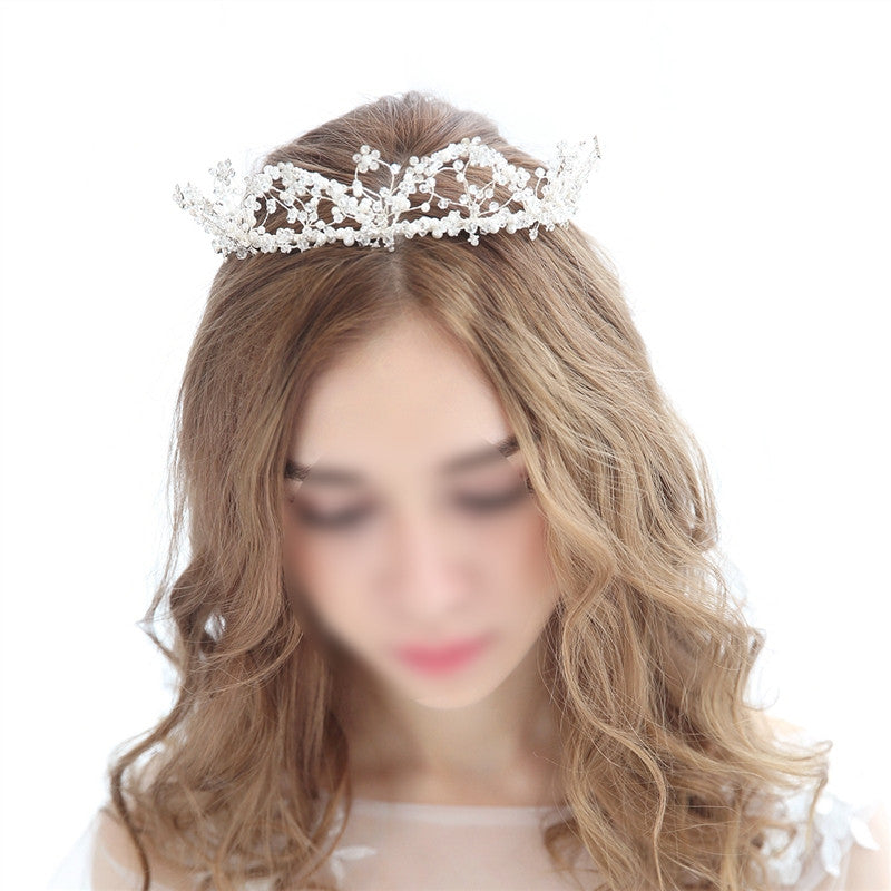 Women Bridal Princess Tiara Wedding Crystal Hair Crown Headband with Combs for Weddings Parties Birthday Special Occasion
