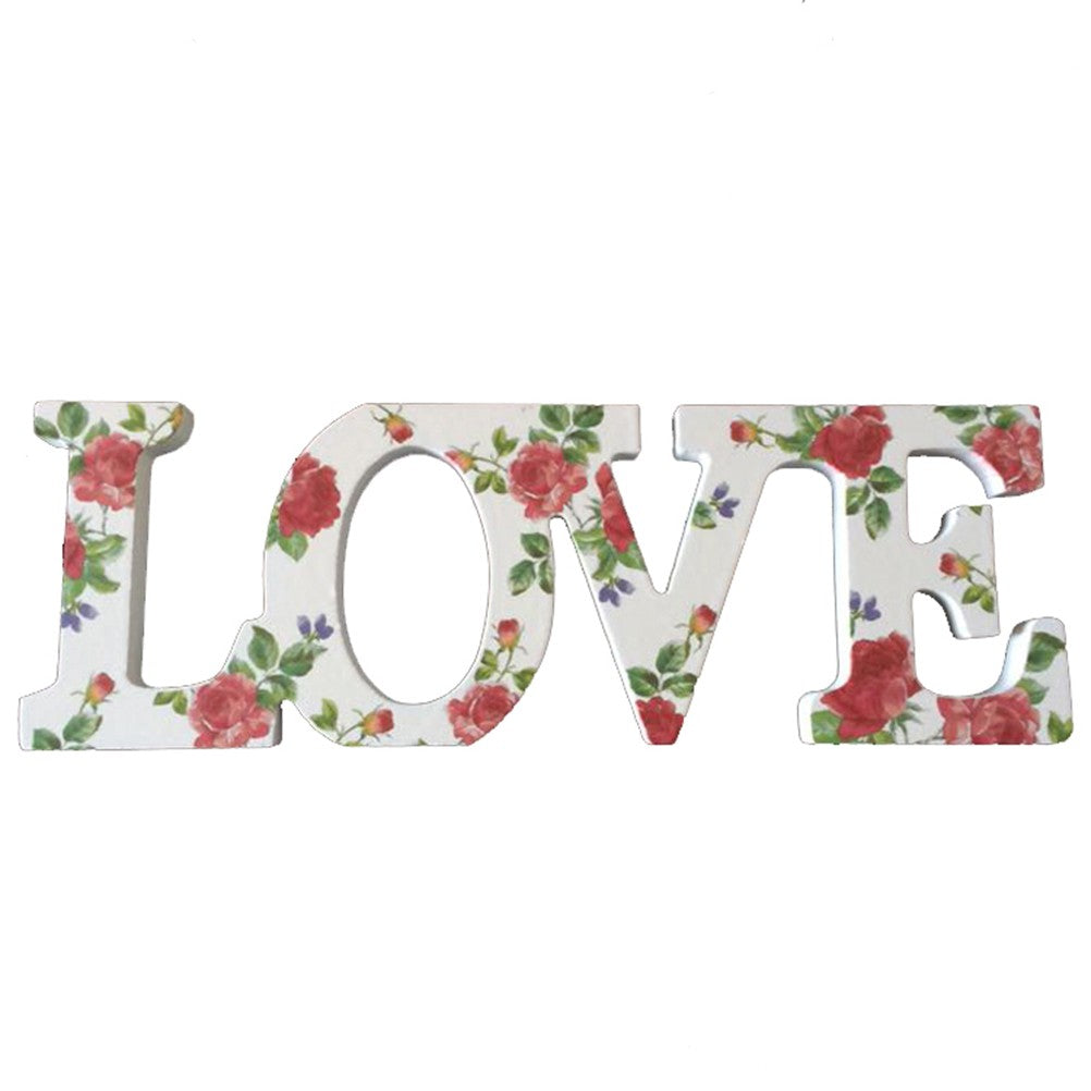 Wedding Decorations Wooden Letters Love Decoration/present, Home Decoration with Flower Printing