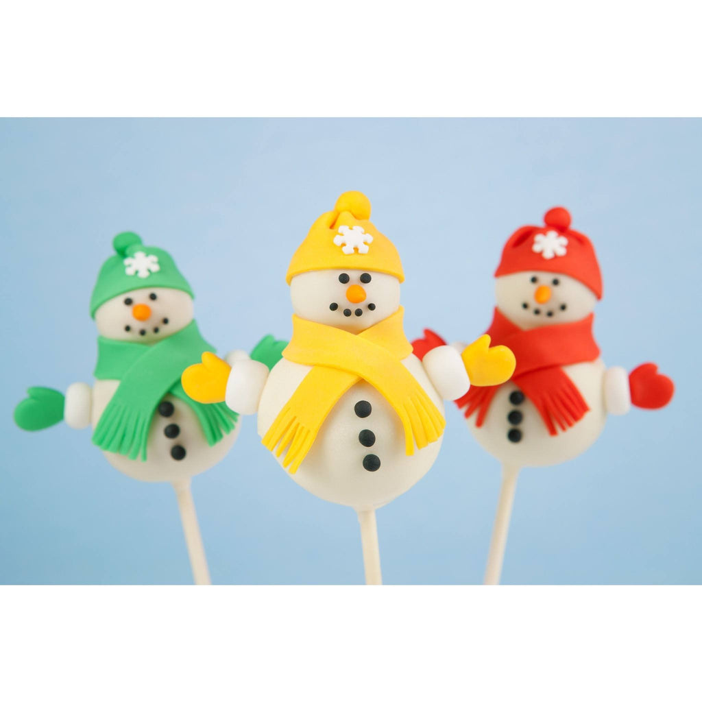 Christmas  Snowman Cake Pops For Christmas - Cake Pops Parties