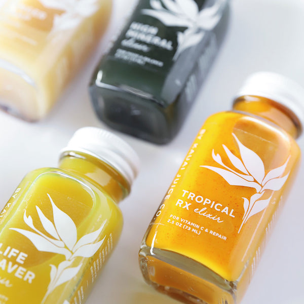 Cold-Pressed Unpasteurized Elixirs