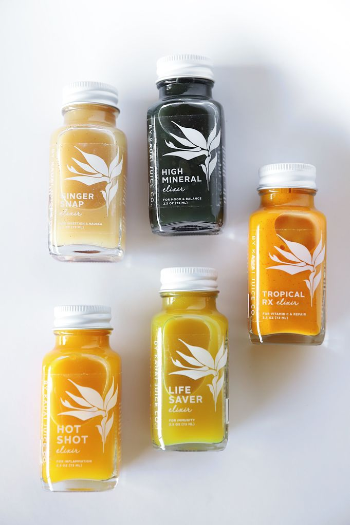 Kauai Juice Co Wellness Elixir Line